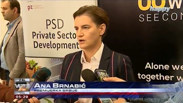 Brnabić – We wish Serbia to be an open country